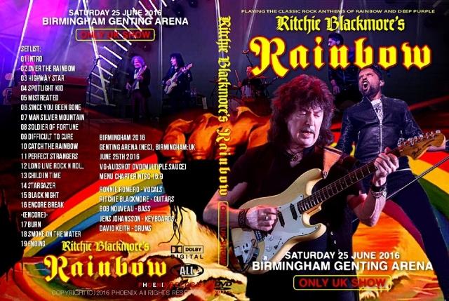 レインボー 2016年6月25日バーミンガム イングランド DVD