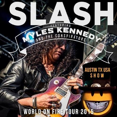 コレクターズCD スラッシュ 2015年アメリカツアー World on Fire Tour