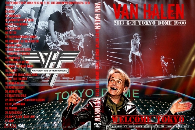 コレクターズDVD ヴァン・ヘイレン (Van Halen)2013年 日本公演 6月21日Tokyo Dome