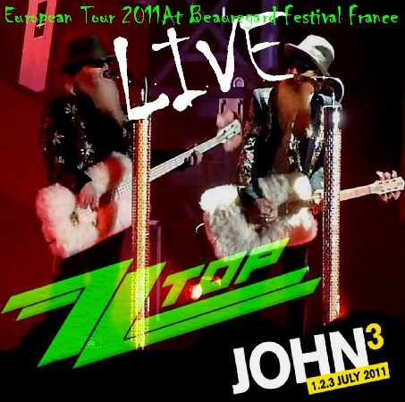 コレクターズCD ZZ Top(ズィーズィー・トップ)2011年ヨーロッパツアー France