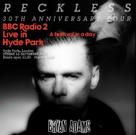 コレクターズCD ブライアン・アダムス 2015年ロンドン  BBC Radio 2 in Hyde Park