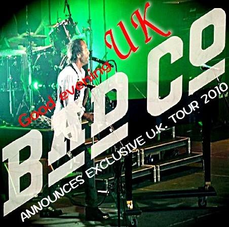 コレクターズCD Bad Company(バッド・カンパニー2010年ヨーロッパツアー)Brighton Uk 2010.04.10