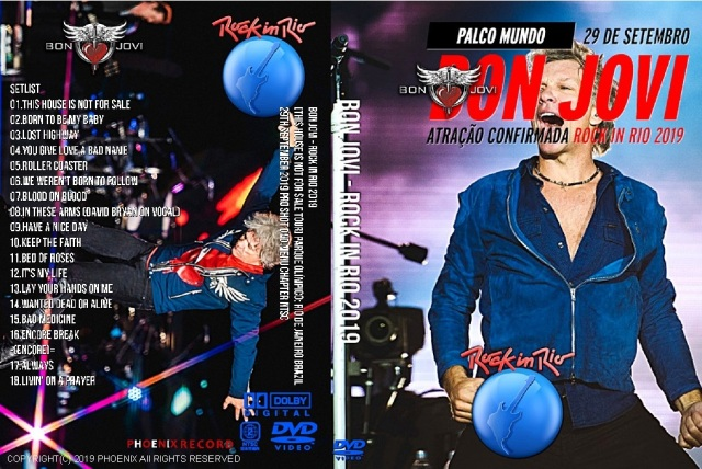 コレクターズDVD Bon Jovi - Rock in Rio 2019