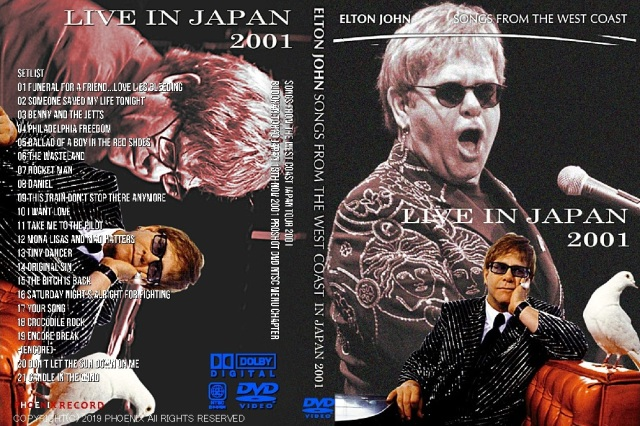コレクターズDVD  Elton John  - Songs from the West Coast Japan Tour 2001