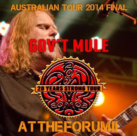 コレクターズCD ガヴァメント・ミュール - Gov't Mule 2014年 オーストラリアツアー