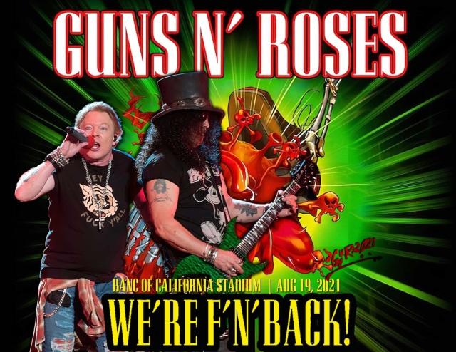 コレクターズCD Guns N' Roses Reschedule 2021 North American Tour