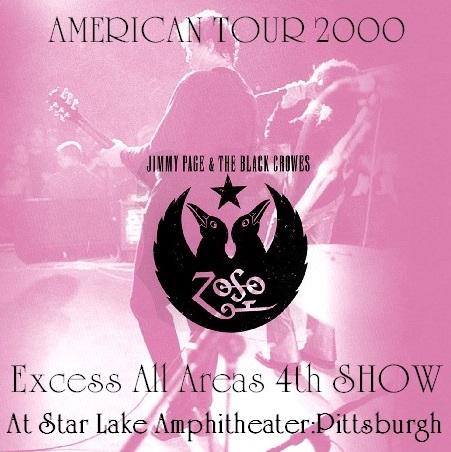 コレクターズCD  Jimmy Page and The Black Crowes - Excess All Areas Tour 2000