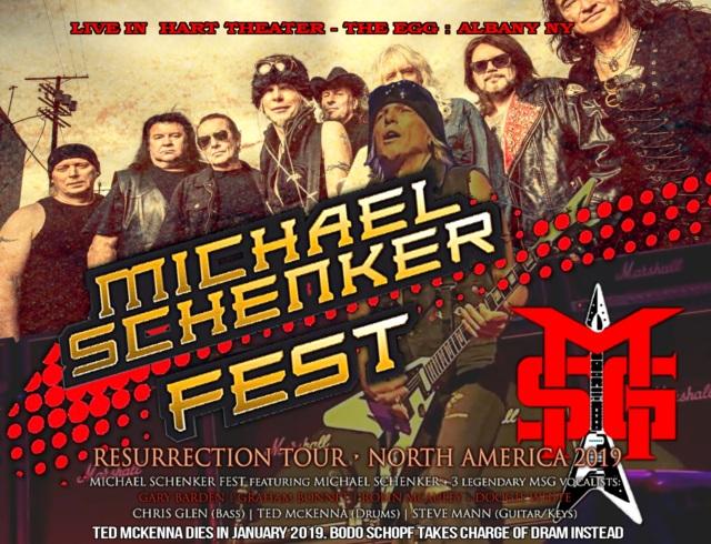 コレクターズCD Michael Schenker Fest  -  Us Tour 2019