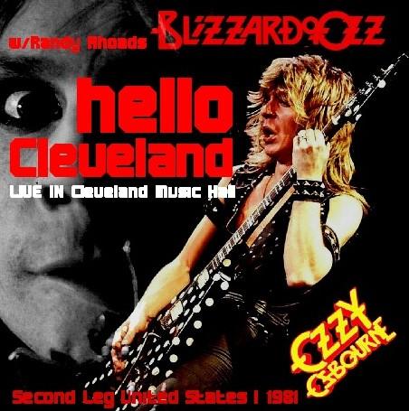 コレクターズCD Ozzy Osbourne(w/ランディ・ローズ Blizzard of Ozz tour 81 Second Leg  USA 1)Cleveland