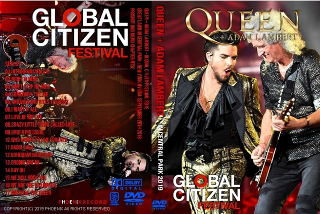 コレクターズDVD  Queen + Adam Lambert - Global Citizen Festival 2019