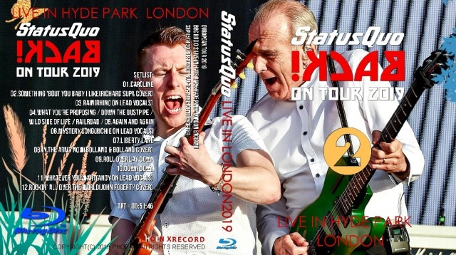 コレクターズBlu-ray Status Quo - European Tour 2019