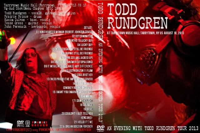 コレクターズDVD  Todd Rundgren(トッドラングレン)2013年アメリカツアー