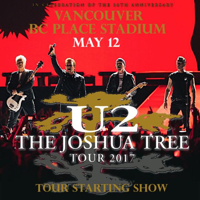 コレクターズCD U2 2017年ヨーロッパツアー The Joshua Tree Tour 2017