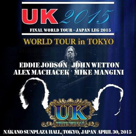 コレクターズCD UK(ユー・ケイ)2015年日本公演