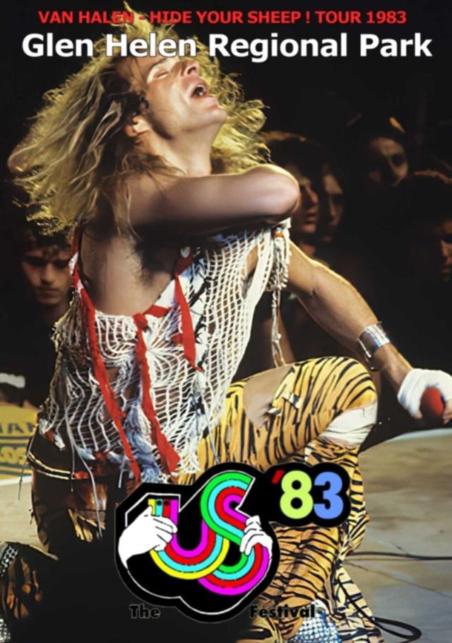 ヴァンヘイレン1983年USツアー5月29日カリフォルニアProshot DVD