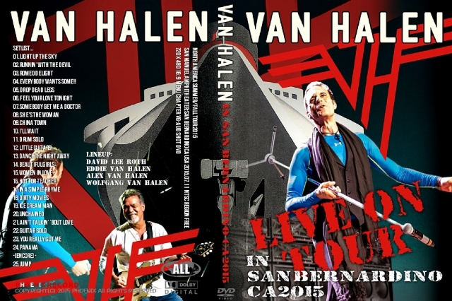 コレクターズCD ヴァンヘイレン 2015年ワールドツアー