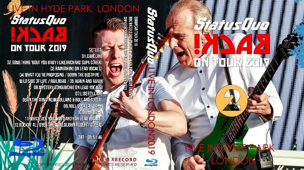 コレクターズBlu-ray Status Quo - European Tour 2019