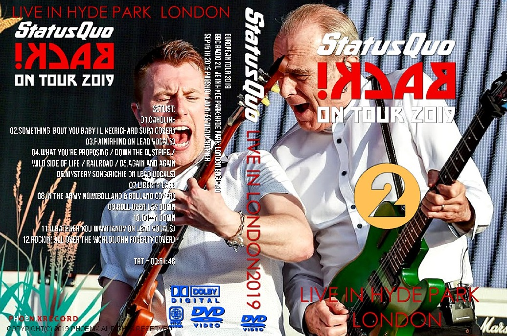 コレクターズDVD Status Quo - European Tour 2019