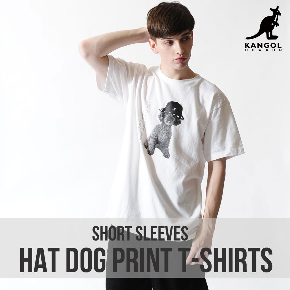 KANGOL REWARD HAT DOGプリント半袖Tシャツ