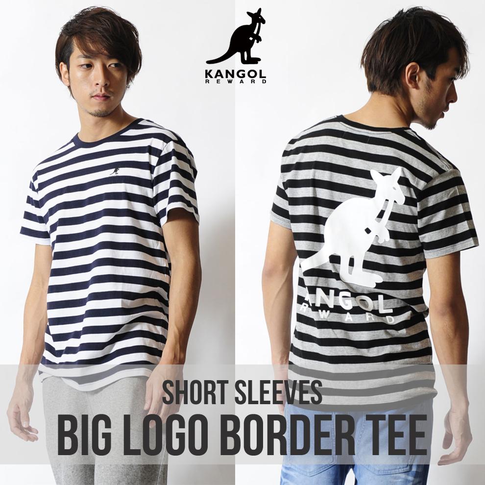 KANGOL REWARD BIG LOGOボーダーTシャツ