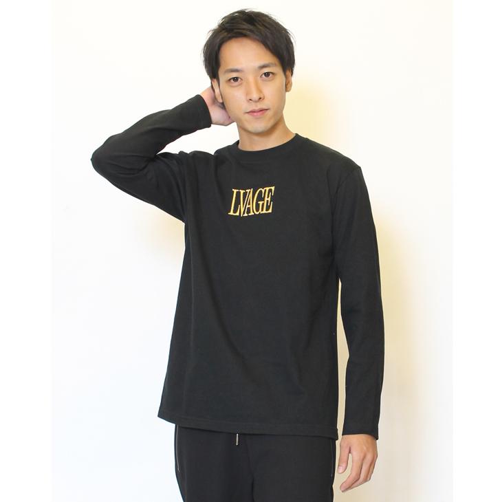 LIVERTINE AGE◆3Dロゴ刺繍長袖Tシャツ