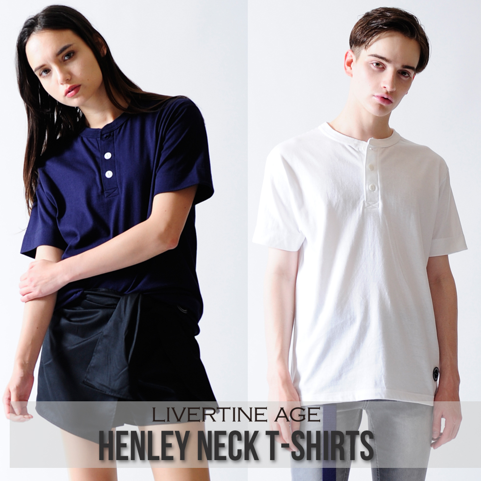 LIVERTINE AGE ヘンリーネックTシャツ