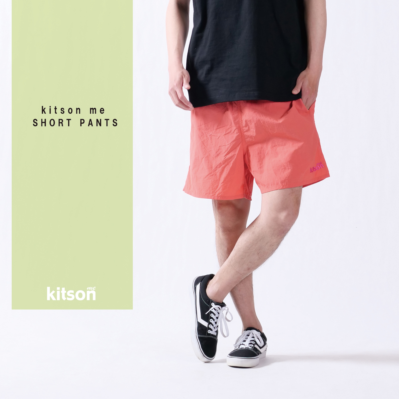 kitson me ロゴ刺繍ショートパンツ