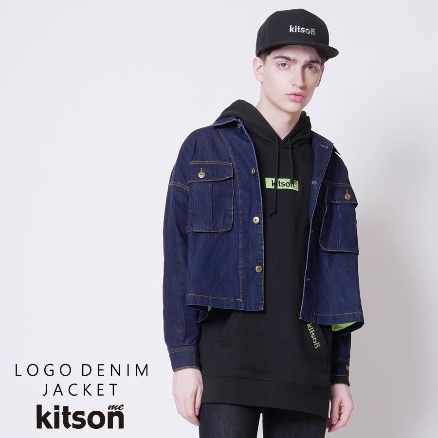 kitson me  ロゴ刺繍デニムジャケット
