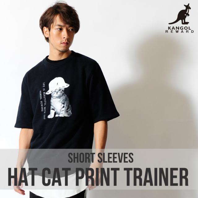 KANGOL REWARD HAT CATプリント半袖トレーナー