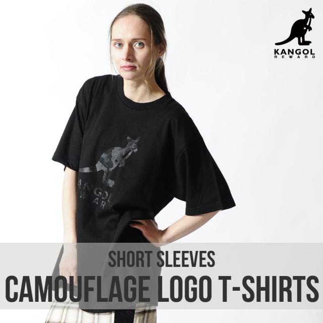 KANGOL REWARD カモフラロゴ半袖Tシャツ