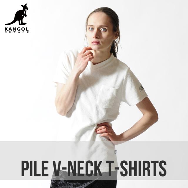 KANGOL REWARDレディースVネックTシャツ