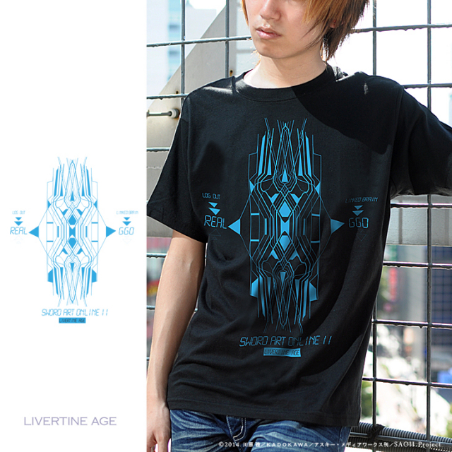 【完全第2回予約受注生産】ソードアート オンラインII SWORD ART ONLINE II TYPE:LINKED BRAIN Tシャツ◆コラボ メンズ Tシャツ レディース【2015年3月上旬より順次発送】