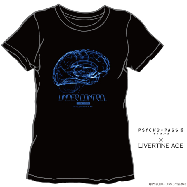 【完全第2回予約受注生産】PSYCHO-PASS サイコパス 2 TEE TYPE UNDER CONTROL◆コラボ メンズ Tシャツ レディース 【2015年3月上旬より順次発送】