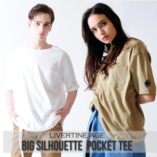LIVERTINE AGE BIGシルエットポケットTシャツ