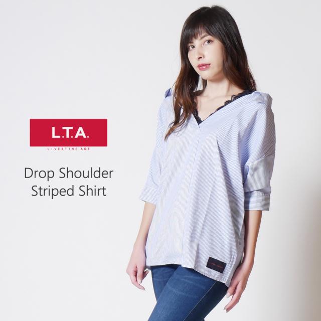 LTA ドロップショルダーストライプシャツ