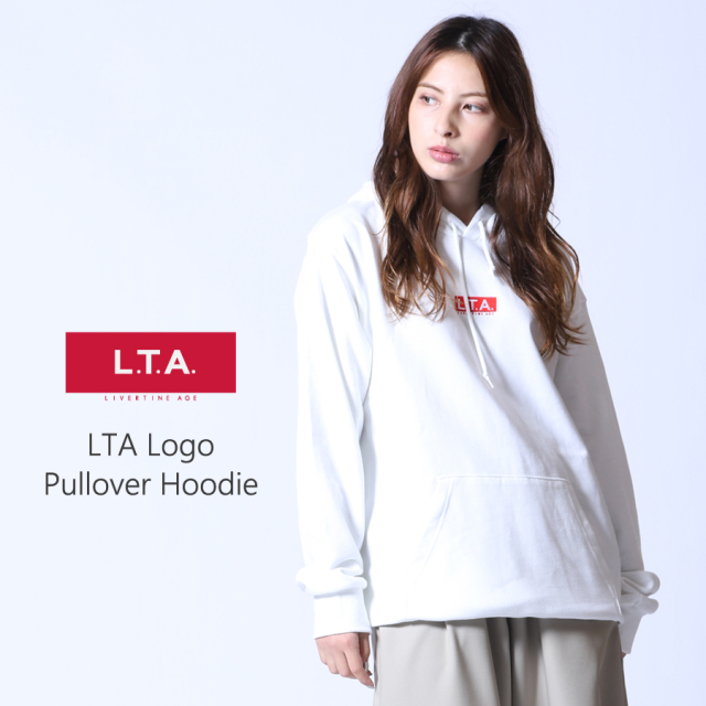 LTA STANDARDロゴ刺繍 プルオーバーパーカー
