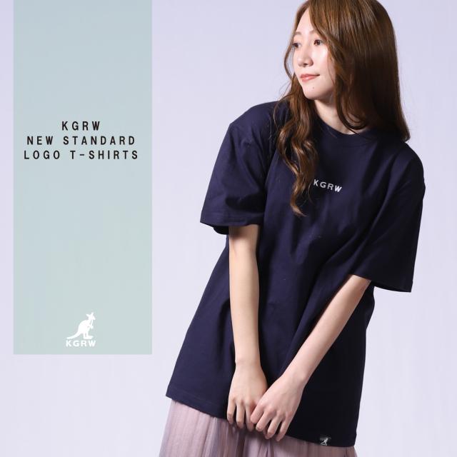 KGRWNEWSTANDARDロゴ刺繍半袖Tシャツ