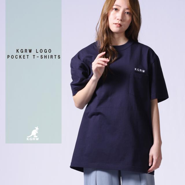 KGRWNEWSTANDARDロゴ刺繍ポケットTシャツ