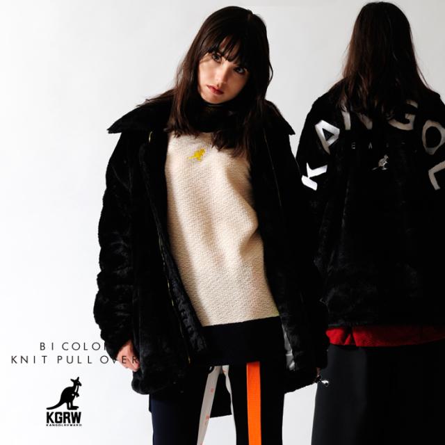 【予約商品】KANGOL REWARD 中綿 BIG LOGOファーボンバージャケット
