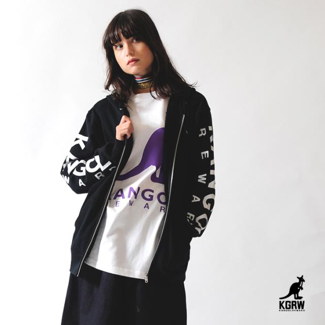 【予約商品】KANGOL REWARD ビッグロゴZIPパーカー