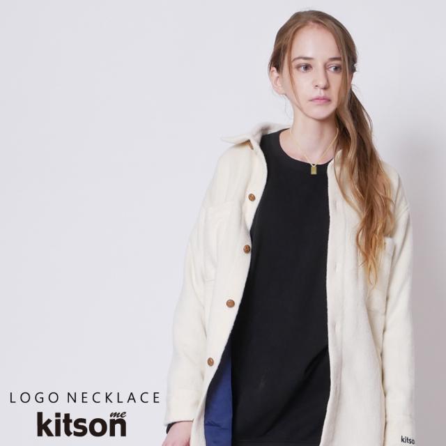kitson me ロゴスクエアネックレス
