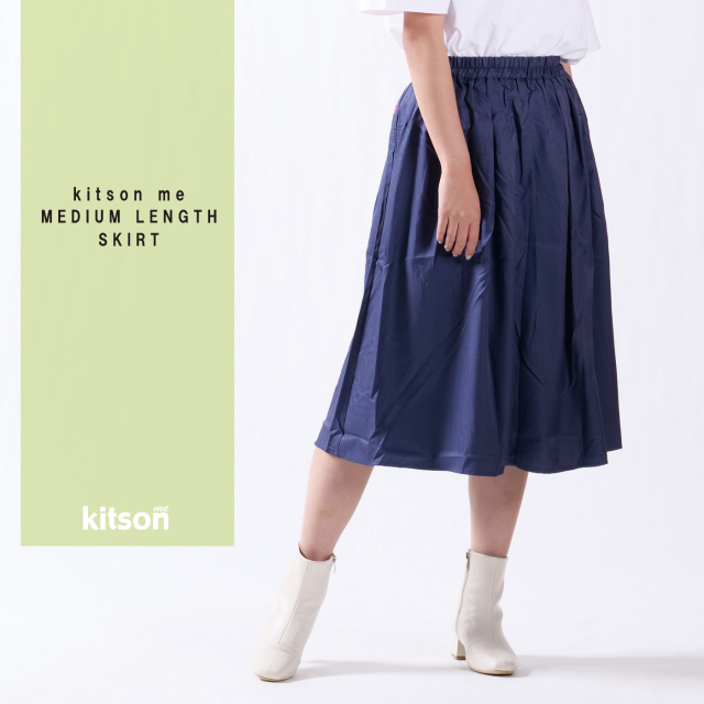 kitson me ロゴ刺繍ミディ丈スカート