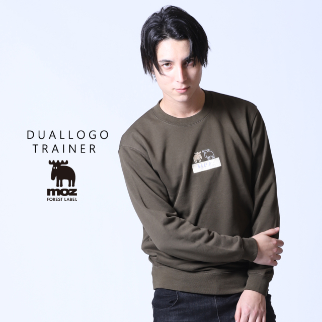 moz FOREST LABEL  DUAL LOGOトレーナー◆