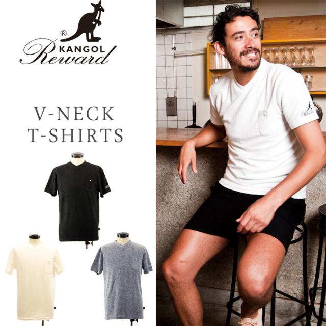 KANGOL REWARD ベーシックVネックTシャツ