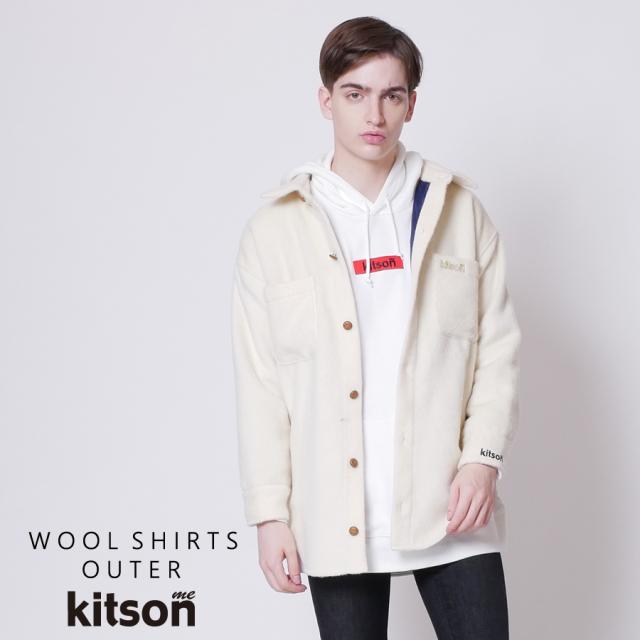 kitson me  ウールシャツアウター
