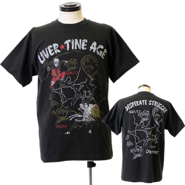 LIVERTINE AGE【リバティーンエイジ】◇NARUTOコラボレーション  NARUTO × SASUKETシャツ
