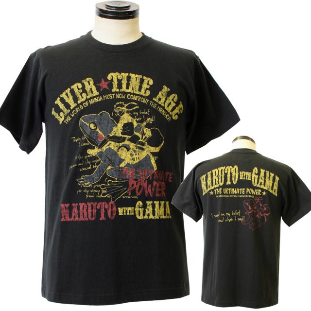 LIVERTINE AGE【リバティーンエイジ】◇NARUTOコラボレーション  NARUTO with GAMATシャツ