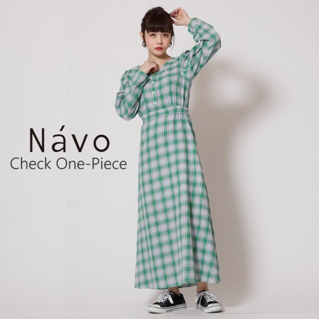 Navo チェックワンピース◆
