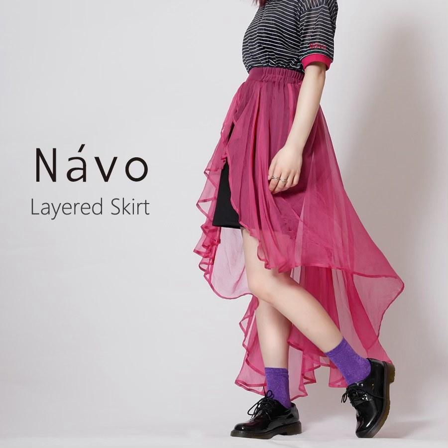 Navo レイヤードスカート◆