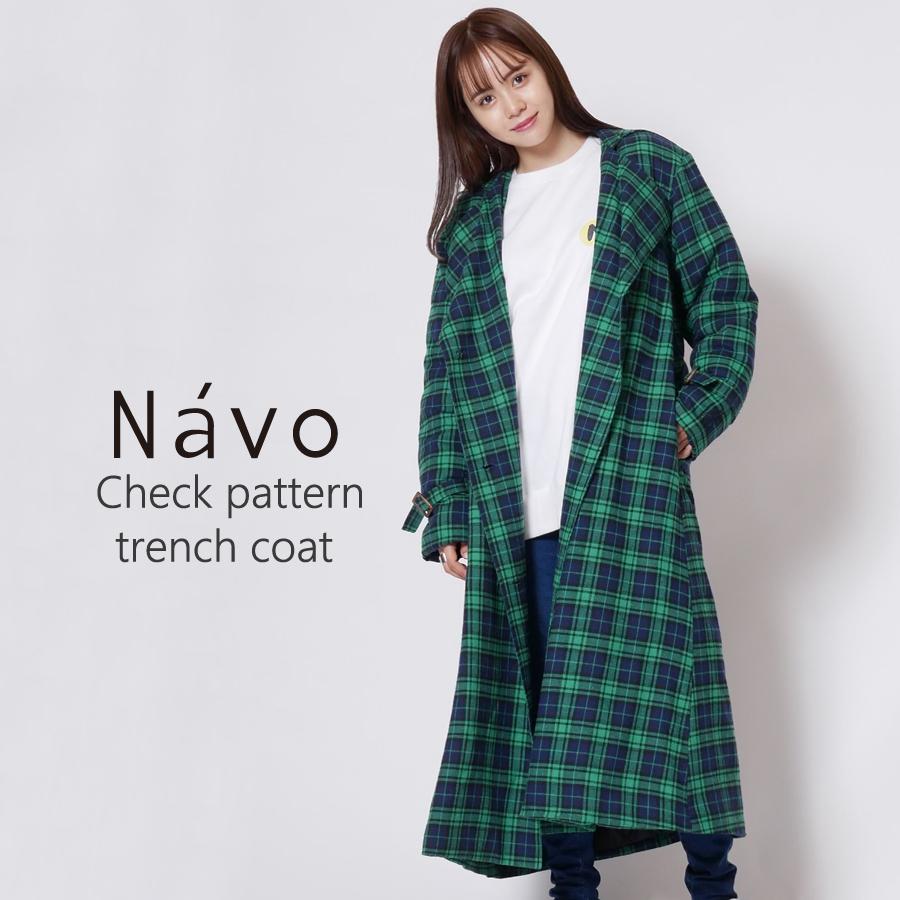 Navo × KANGOL REWARD チェック中綿ロングコート◆